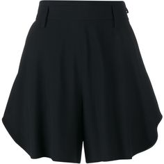 Chloé Flared Cotton Shorts (2.465 DKK) ❤ liked on Polyvore featuring shorts, bottoms, short, pants, black, short shorts, flare shorts, chloe shorts, tailored shorts and flared shorts