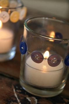 candle holder with buttons