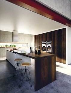 Lacquered wood veneer #kitchen VELVET ÉLITE by GeD cucine