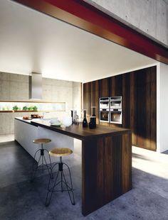 Lacquered wood veneer #kitchen VELVET ÉLITE by GeD cucine