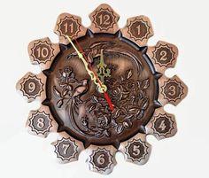 Wooden clock Wall clock birthday gift wood wall by Woodartukraine