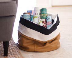 DIY slouchy storage bag