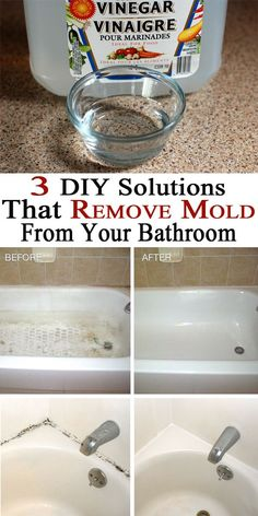 Removing mold can protect both you and your family against health problems. Here are 3 solutions that have a great effect over most mold species from your bathroom.