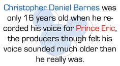 Disney fact, and it's totally true. it sounds like a late 20s male voice