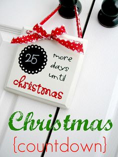 Love this Christmas countdown {craft}