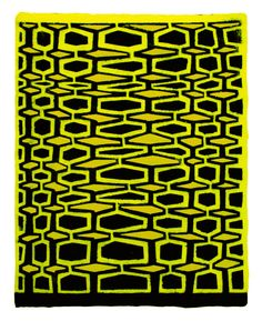James Siena (American, b. 1957) - Two Perforated Combs, 2006. Stenciled pigmented linen on pigmented cotton base