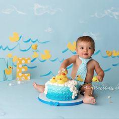Rubber Duck - Ducky - First Birthday - Photo Prop - Wooden - Hand Painted Rubber Duck Birthday, Half Birthday Baby, Rubber Ducky Party, Rubber Ducky Baby Shower, Yellow Birthday, Birthday Themes For Boys, First Birthday Decorations, 1st Birthday Photos, 1st Birthday Girls
