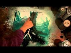 ▶ how to spray paint a magic forest with montana spray paint (spray paint art) - YouTube