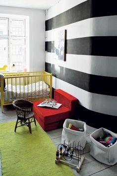 Bold stripes for nursery