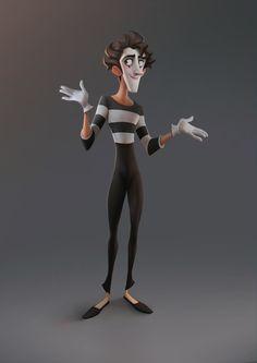 Gebri, the mime by Jose Manuel Fernandez Oli Photo Character Design Cartoon, Character Design Animation, Cartoon Design, Character Design References, Character Design Inspiration, Funny Cartoon Characters, 3d Cartoon, Cartoon Styles, Cartoon Drawings