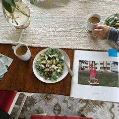 Breakfast salads & coffee at Lisa's.