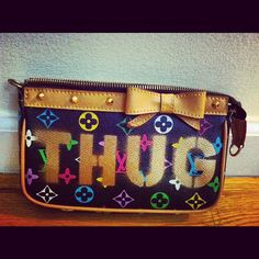 THE THUG LIFE  Louis Vuitton Inspired Vintage by RefinedYetRugged, $60.00