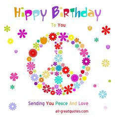 28 Delightful Happy Birthday Hippie Style Images