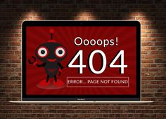 404 Error Page PSD FIle by Psd Templates on @creativemarket