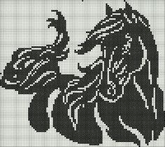 Cross Stitch Horse, Beaded Cross Stitch, Cross Stitch Animals, Cross Stitch Kits, Cross Stitch Charts, Cross Stitch Patterns, Crochet Chart, Crochet Patterns, Crochet Motif