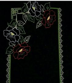 This Pin was discovered by sih Table Runners, Embroidery Patterns, Projects To Try, Cross Stitch, Quilts, Creative, Painting, Embroidery Stitches, Ideas