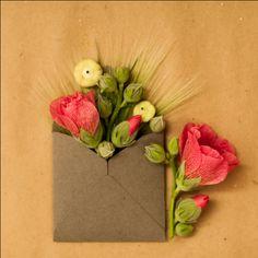 Картинки по запросу flower bouquets in envelopes