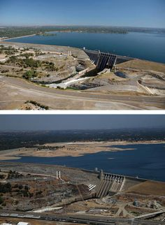 Folsom Dam - California drought drains lakes - Pictures - CBS News