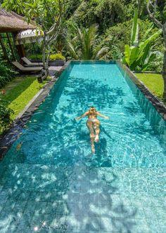 Travel Tag: Mandapa, A Ritz-Carlton Reserve in Bali - The Road Les Traveled Hotel Swimming Pool, Swiming Pool, Swimming Pools Backyard, Swimming Pool Designs, Hotel Pool, Backyard Pool Landscaping, Backyard Pool Designs, Small Backyard Pools, Outdoor Pool