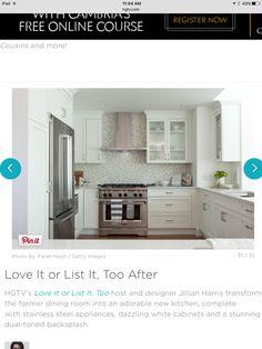 Like this kitchen cabinets, backsplash, counters