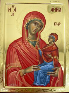 Anna with the Theotokos Saint A, Infancy, Orthodox Icons, Anna, Disney Characters, Fictional Characters, Marvel, Disney Princess, July 25