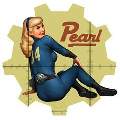 Fallout New Vegas Pearl Pinup Art Fallout 4 Music, Fallout Art, Fallout New Vegas, Fallout Cosplay, Bioshock Cosplay, Dc Vibe, Fallout Nuka Cola, Video Game Logic, Video Games