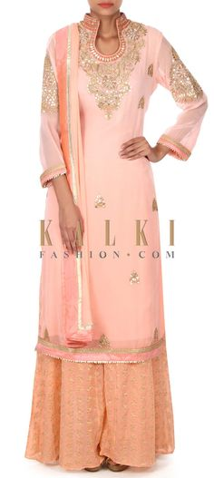 Buy this Pink straight top adorn in gotta patch work only on Kalki