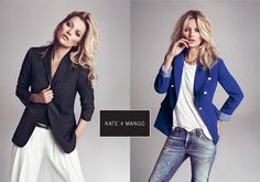 Kate Moss for Mango. I saw these imagesfrom their new catalog a week or two ago and I am still thinking about them. The camera obviously loves her and she is often able to make classic look amazing and memorable. Are you going to be sporting some blazers come Fall?