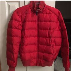 Red ladies Ralph Lauren jacket Good condition Ralph Lauren Jackets & Coats Puffers