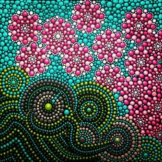 Dot Art schilderij door kunstenares Tessa Smits