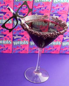 All over this - Purple Nerds Candy Cocktail!
