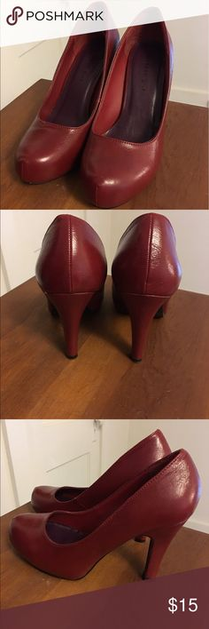 Madden Girl Heels- FINAL SALE Preparing to move. Final Sale before it is pulled from the closet 9/30! Deep red Madden Girl heels, approximately 2 inch high. Worn 2-3 times, in nearly new condition with minimal wear on sole. Goes perfectly with that little black dress. Madden Girl Shoes Heels