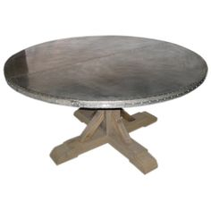 40 Round top Zinc Table by KiddEppsArtShop on Etsy 150000