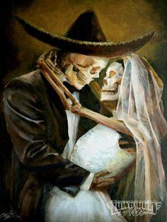 Love wedding skeleton