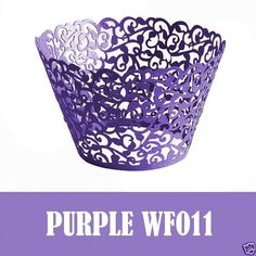Filigree-Vintage-Cupcake-Wrappers-Wraps-Cases-Wedding for 20 Purple Cupcakes, Vintage Cupcake, Cupcake Wrappers, Filigree, Decorative Bowls, Wraps, Baby Shower, Cases, Birthday