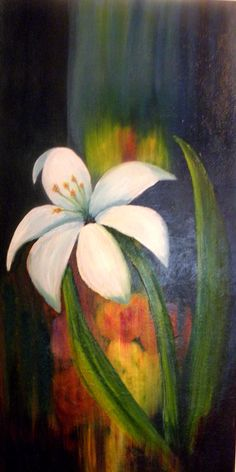 oil on canvas - Easter Lily  14 x 30 - I love to Paint!  I also love working at home.  Go to my blog and see how I do it:   http://WorkFromHomeTeam.biz