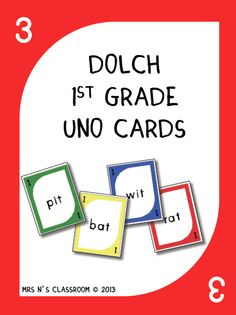 This game is played exactly the same way as the original Uno game but instead of numbers it contains sight words on them. The students have to say the sight word in order to be able to play the card.