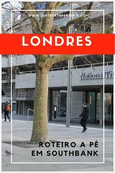 O roteiro completo para conhecer as principais atrações de Southbank passeando a pé no circuito Queen's Walk, o calçadão que fica ao longo do Tâmisa, entre a Westminster Bridge e a London Bridge. #londres #inglaterra #viagem #dicadeviagem