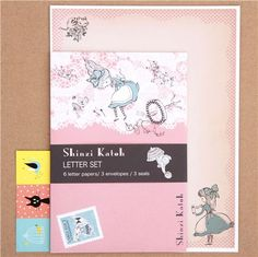Alice in Wonderland Shinzi Katoh letter paper set Japan 1