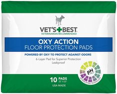 Vet's Best OXY ACTION Floor Protection Pads - 10 Pad Pack >>> Read more reviews of the product by visiting the link on the image.