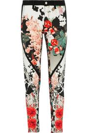 Roberto CavalliHigh-rise printed skinny jeans