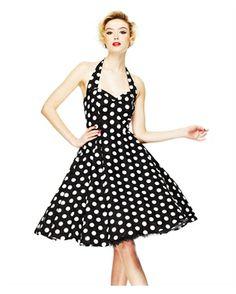 13a7804eb6a3 Hell Bunny 50 s Mariam Polka Dot Dress Black Abiti Di Ispirazione Vintage