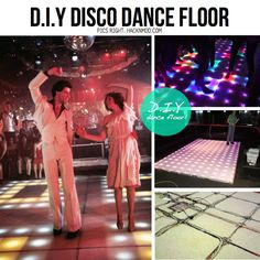 Build your own light up disco floor (if you're handy). / How To Throw The Most Epic Dance Party Ever (via BuzzFeed)