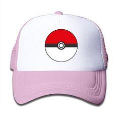cdb9bd82250 Child Pokemon Go Ball Pokeball Poke Ball Game Snapback Hat Mesh Cap Kids  Hats