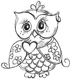 Cartoon Owl Coloring page Pinteres