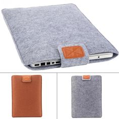 Premium Soft Sleeve Bag Case Notebook Cover for 11in 13in 15in Macbook/Laptop/Tablet PC Fashion Pure Felt //Price: $0.00// #onlineshop