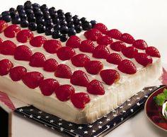 Betty Crocker Stars and Stripes Cake Recipe by Betty Crocker Recipes #food #wedding
