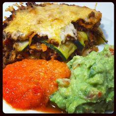LCHF-HVERDAG: Mexicansk LCHF-lasagne med hjemmelavet grov guacamole og salsa