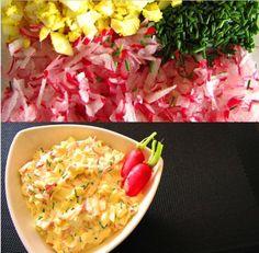Sałatka grillowa z rzodkiewką i jajkami