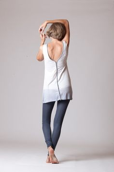 Dip dye V neck slit tunic by duende74 on Etsy, $229.00